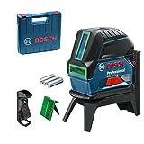 Bosch Professional GCL 2-15 G Kombilaser (3x 1,5 V Batterien, grüner Laser, im Handwerkerkoffer)