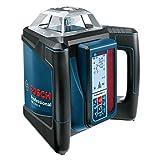 Bosch Professional 0601061A00 Professional GRL H + LR 50, 500 m (Durchmesser) Arbeitsbereich mit Empfänger, Schnelllader, Transportkoffer, Schutztasche, Halterung