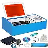 BuoQua 40W Lasergravurmaschine Graviermaschine mit USB-Anschluss CO2 Lasergravierer Laser Engraver für Leder Holz Acryl usw.