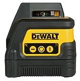 DeWalt Linienlaser (360°, selbstnivellierend bis ±4°, 3-Tasten-Bedienung, robust und feuchtigkeitsgeschützt IP54, zusätzlich Vertikallinie zur Projektion eines Kreuzes) DW0811