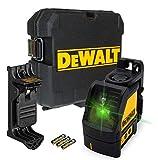 DEWALT B07G4N844W DW088CG 2-Wege selbstnivellierender Kreuzlinien-Laser, Grün
