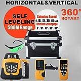 Ridgeyard Automatische Selbstnivellierung Rotary Laser Level 500m Reichweite grüne Strahl Green Laser
