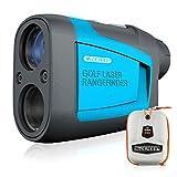 Mileseey Professional Laser Entfernungsmesser Golf 600M mit Neigungskompensation,±0,5M Genauigkeit,Schnelle Fahnenmastverriegelung, 6X Vergrößerung,Distanz/Winkel Geschwindigkeitsmessung für Golf/Jagd