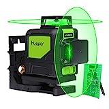 Huepar 902CG 2 x 360 Kreuzlinienlaser Grün, 360 Grad Linienlaser Selbstnivellierenden Laser Level mit Pulsfunktion, Umschaltbar Zwei 360°-Laserlinie, 25m Arbeitsbereich, inkl. Magnetische Halterung