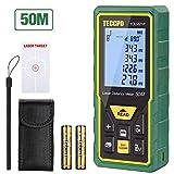Laser Entfernungsmesser Distanzmessgerät 50m TECCPO Elektronischer Winkelsensor, Innendekoration, m/in/ft/ft+in, 30 Datenspeicherung, Entfernung, Fläche, Pythagore-Volumen, Winkel, IP54 -TDLM21P